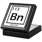 Elemental bacon periodic table Keepsake Box