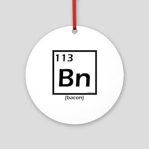 Elemental bacon periodic table Ornament (Round)