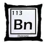 Elemental bacon periodic table Throw Pillow