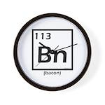 Elemental bacon periodic table Wall Clock