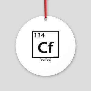 Elemental coffee periodic table Ornament (Round)