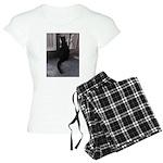 Black Cat at Screen Door Pajamas