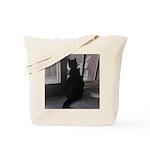 Black Cat at Screen Door Tote Bag
