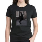 Black Cat at Screen Door T-Shirt