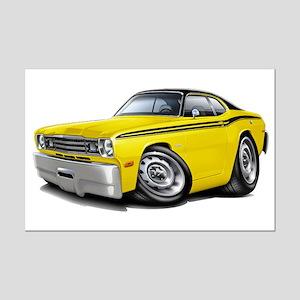 Duster Yellow-Black Car Mini Poster Print