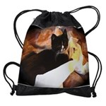 Mischief Kitten Drawstring Bag