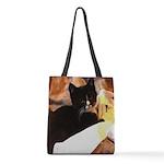Mischief Kitten Polyester Tote Bag