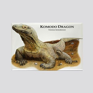Komodo Dragon Rectangle Magnet