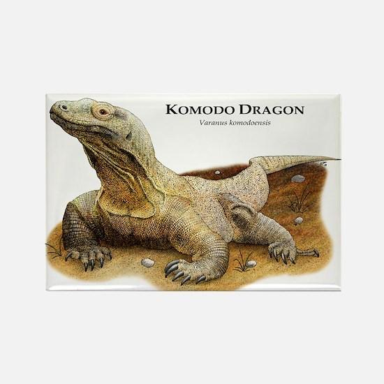 Komodo Dragon Rectangle Magnet