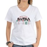Buttcrack Santa Women's V-Neck T-Shirt