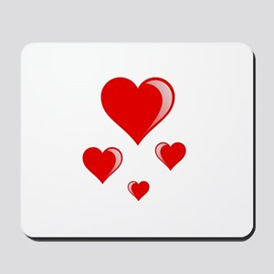 Red hearts Mousepad