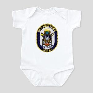 USS NEW YORK Infant Bodysuit