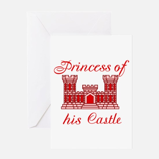 his castle red Greeting Card