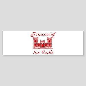 his castle red Sticker (Bumper)