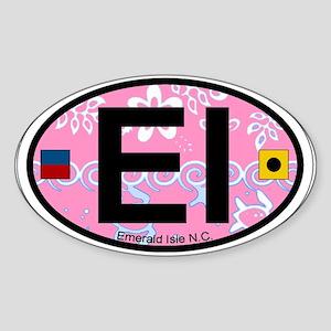 Emerald Isle NC - Oval Design Sticker (Oval)