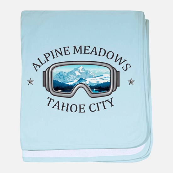 Alpine Meadows - Tahoe City - Calif baby blanket