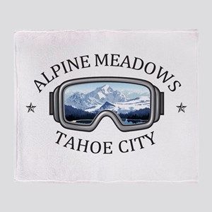 Alpine Meadows - Tahoe City - Cali Throw Blanket