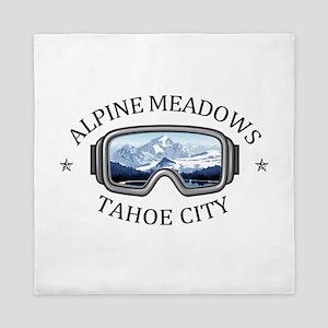 Alpine Meadows - Tahoe City - Califo Queen Duvet