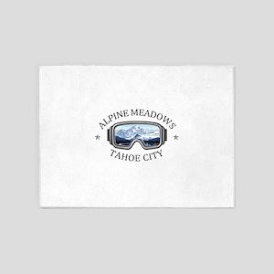 Alpine Meadows - Tahoe City - Cal 5'x7'Area Rug