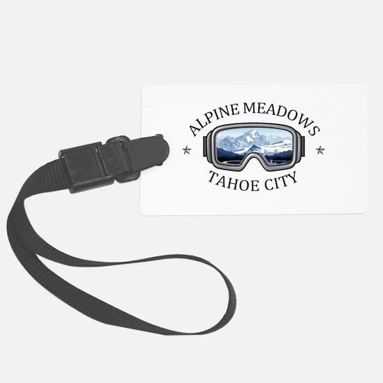 Alpine Meadows - Tahoe City - Luggage Tag