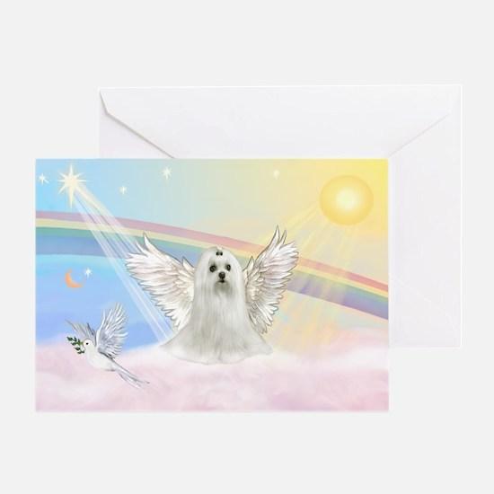 Maltese Angel (C) Greeting Card