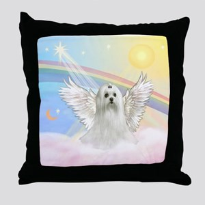 Maltese Angel (C) Throw Pillow