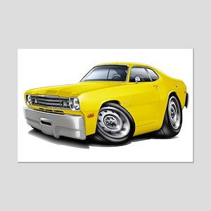 Duster Yellow Car Mini Poster Print