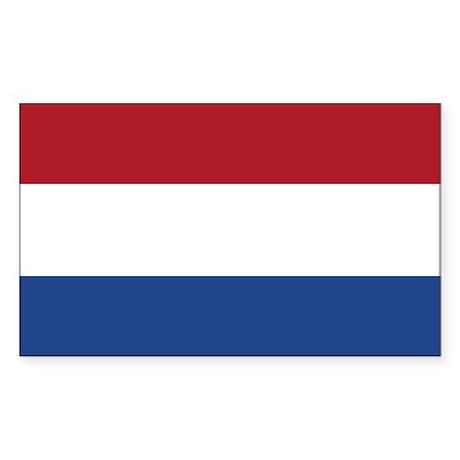 Dutch Flag Sticker (Rectangle)