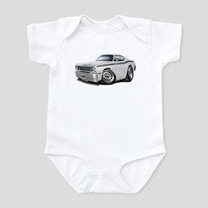 Duster White-Black Car Infant Bodysuit