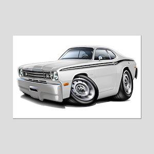 Duster White-Black Car Mini Poster Print