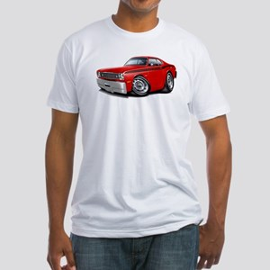 Duster Red-Black Car Fitted T-Shirt