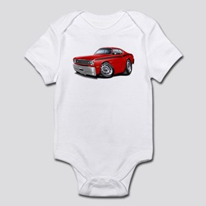Duster Red-Black Car Infant Bodysuit