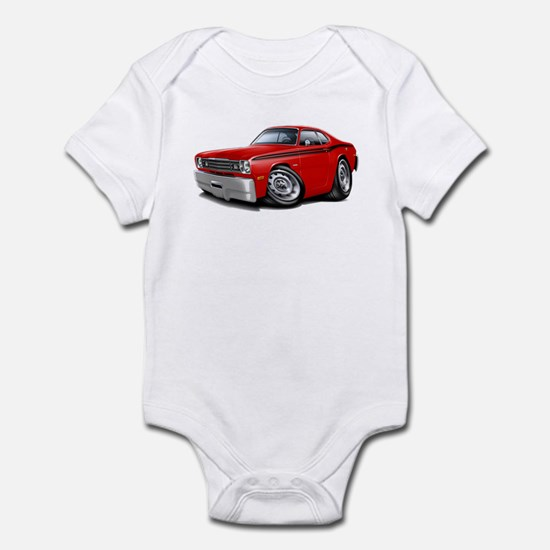 Duster Red-Black Car Infant Bodysuit