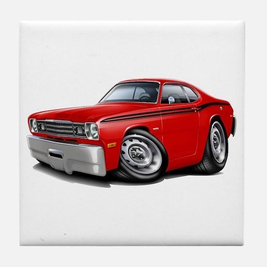 Duster Red-Black Car Tile Coaster