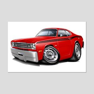 Duster Red-Black Car Mini Poster Print