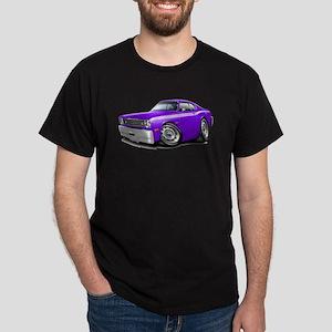 Duster Purple-White Car Dark T-Shirt