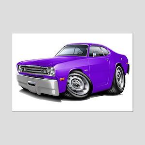 Duster Purple Car Mini Poster Print
