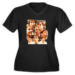 Eraserhead Women's Plus Size V-Neck Dark T-Shirt