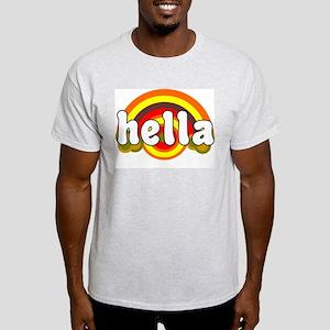 I SAY HELLA RETRO TEE SHIRT H Ash Grey T-Shirt