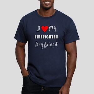 Firefighter Boyfriend Men's Fitted T-Shirt (dark)