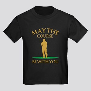 May The Course Be With You Kids Dark T-Shirt
