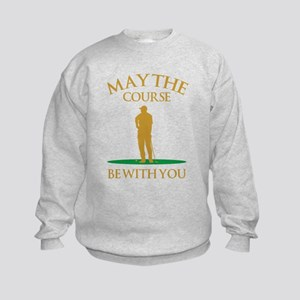 May The Course Be With You Kids Sweatshirt