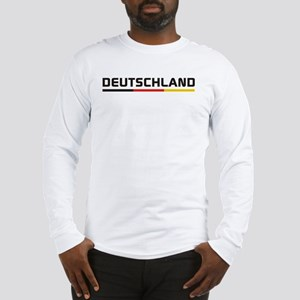 Soccer DEUTSCHLAND Stripe Long Sleeve T-Shirt