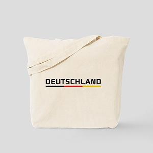 Soccer DEUTSCHLAND Stripe Tote Bag