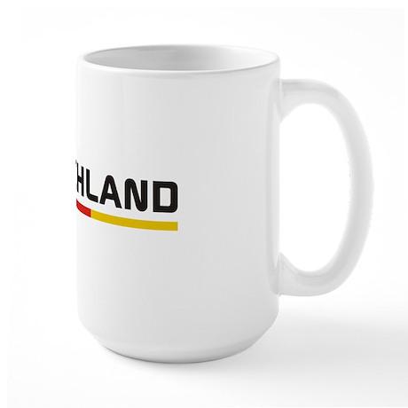 Soccer DEUTSCHLAND Stripe Large Mug