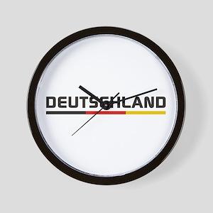 Soccer DEUTSCHLAND Stripe Wall Clock