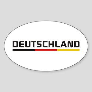 Soccer DEUTSCHLAND Stripe Sticker (Oval)