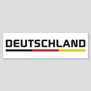 Soccer DEUTSCHLAND Stripe Sticker (Bumper)