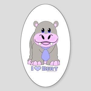 Bert the Hippo Sticker (Oval)