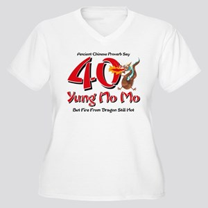 Yung No Mo 40th Birthday Women's Plus Size V-Neck